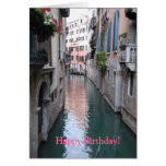 Birthday Greeting Card with Venice, Italy Design