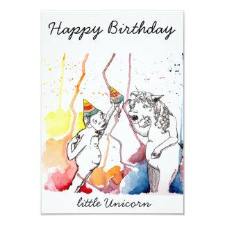 Birthday greeting for unicorns and unicorn fan card