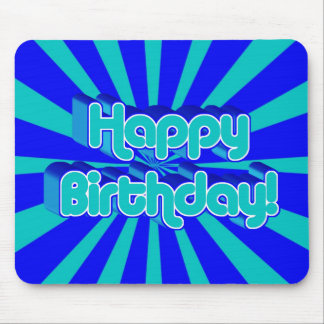 Birthday Greeting Retro style Mouse Mats