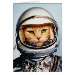 Birthday Greetings: Retro Astronaut Cat