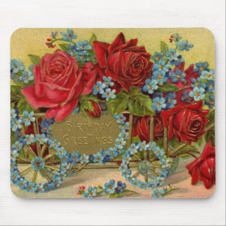 Birthday Greetings Roses Mousepad