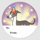 Birthday Greyhound / Whippet / Iggy Gift Tags