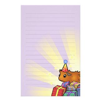 Birthday Guinea Pig (scruffy) Custom Stationery