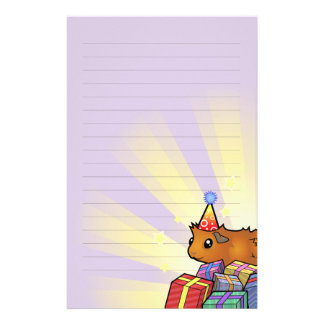 Birthday Guinea Pig (scruffy) Stationery