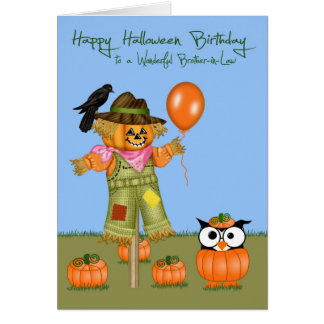 Birthday Halloween Brother-in-Law Greeting Cards