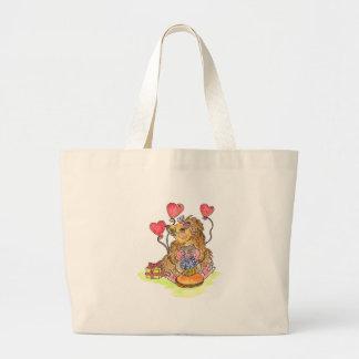 Birthday Hedgehog Large Tote Bag