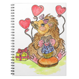 Birthday Hedgehog Notebooks
