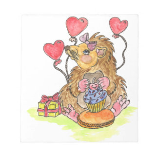 Birthday Hedgehog Notepad