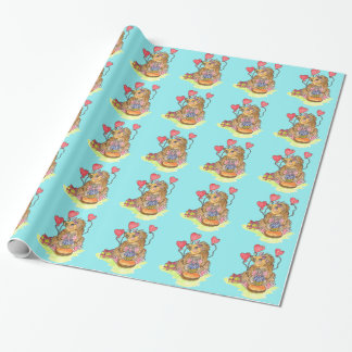 Birthday Hedgehog Wrapping Paper