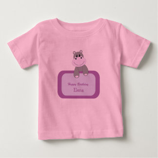 Birthday Hippo Infant's T-Shirt