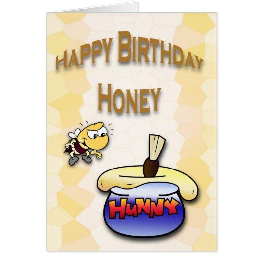 Birthday Honey Bee Card
