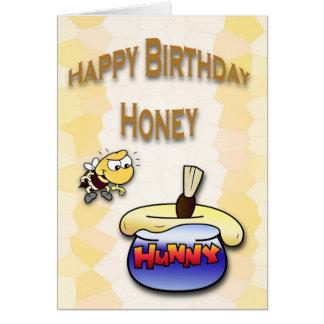 Birthday Honey Bee Greeting Card