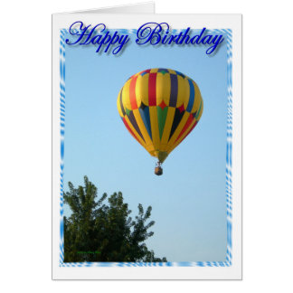 Birthday Hot Air Balloon Card