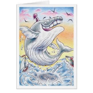 Birthday Humpback Whale Greeting Card