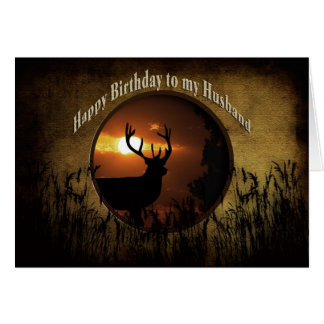 BIRTHDAY HUSBAND - DEER HUNTER CARD