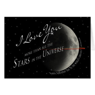 Birthday- HUSBAND- STARS/UNIVERSE Greeting Card