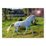 Birthday in Italian, Magical Unicorn Greeting Card