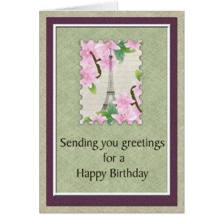 Birthday in Paris Card