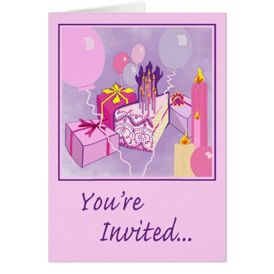 BIRTHDAY in PINK Invitation