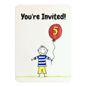 5 Year Old Birthday Invitations Zazzle Uk