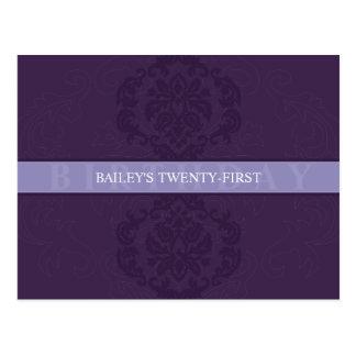 BIRTHDAY INVITATION :: finesse 3 Postcard