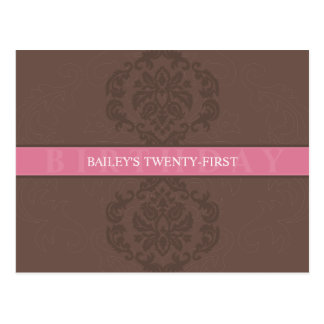 BIRTHDAY INVITATION :: finesse 4 Postcard