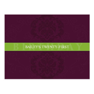 BIRTHDAY INVITATION :: finesse 6 Postcard
