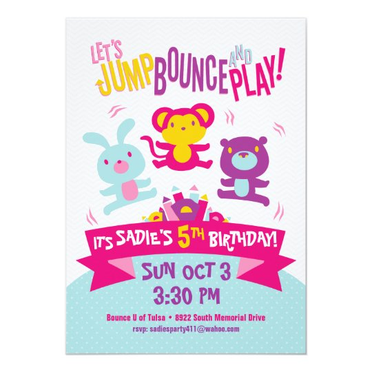 Birthday Invitation *Jump, Bounce & Play*