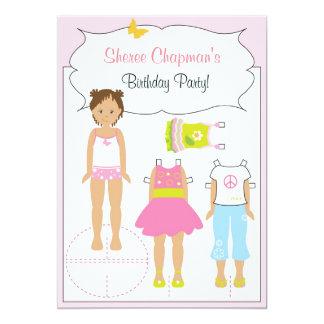 "Birthday Invitation - Paper Doll 5"" X 7"" Invitation Card"