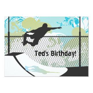 Birthday Invitation - Skateboard