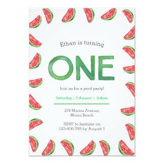 Birthday Invitation | tropical watermelon