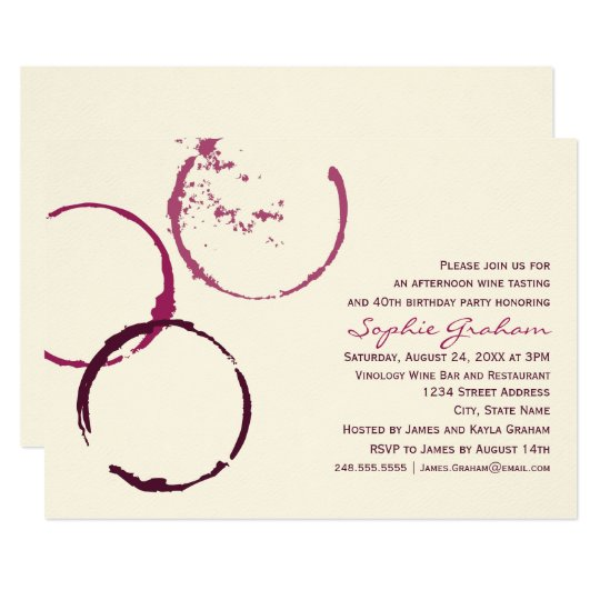 Birthday Invitation | Wine Theme