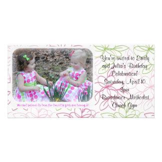 birthday invite photo card template