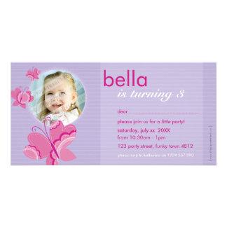 BIRTHDAY INVITE PHOTOCARD :: flutterbybutterfly 3 Photo Cards