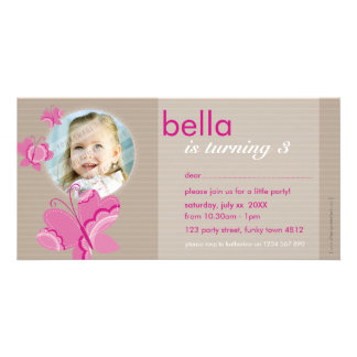 BIRTHDAY INVITE PHOTOCARD :: flutterbybutterfly 5 Photo Card Template