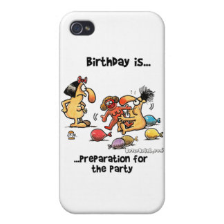 Birthday is... Preparation For The Party iPhone 4/4S Case