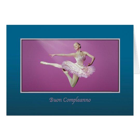 Birthday, Italian, Leaping Ballerina Card