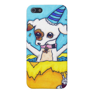 Birthday Jack Russell in a present box Case For iPhone 5/5S