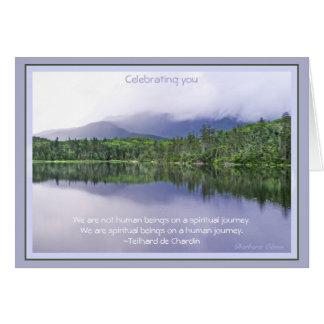 Birthday: Journey of life Greeting Card