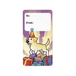 Birthday Labrador Retriever Gift Tags Address Label
