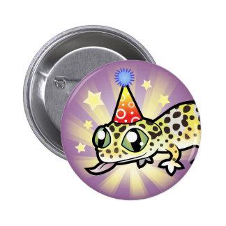 Birthday Leopard Gecko 6 Cm Round Badge