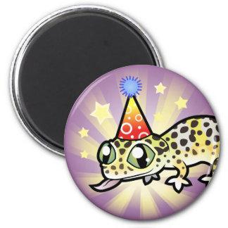 Birthday Leopard Gecko 6 Cm Round Magnet