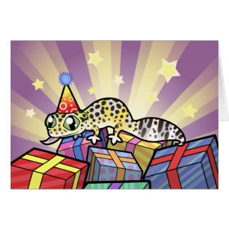 Birthday Leopard Gecko Card
