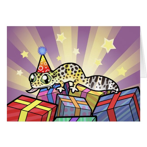 Birthday Leopard Gecko Greeting Cards