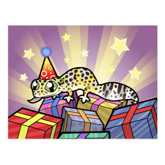 Birthday Leopard Gecko Postcard