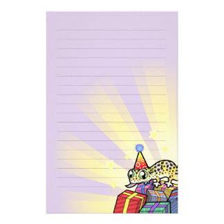 Birthday Leopard Gecko Stationery
