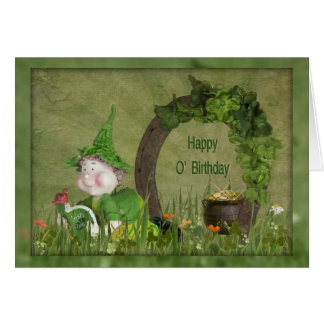 Birthday Leprechaun Greeting Card