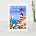 Birthday Lighthouse Card - German Greeting