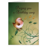 Birthday little Bird for any occasion card