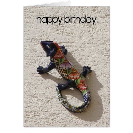 birthday lizard card
